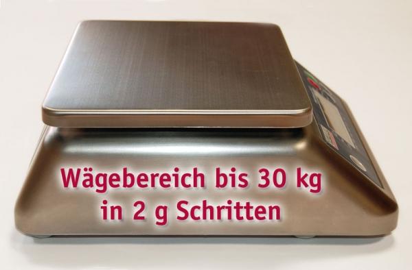 AGT-S wasserdichte Edelstahlwaage (30 kg / 2 g)